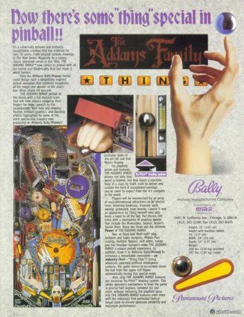 The Addams Family Pinball Machine (Bally, 1992) | Pinside Game Archive