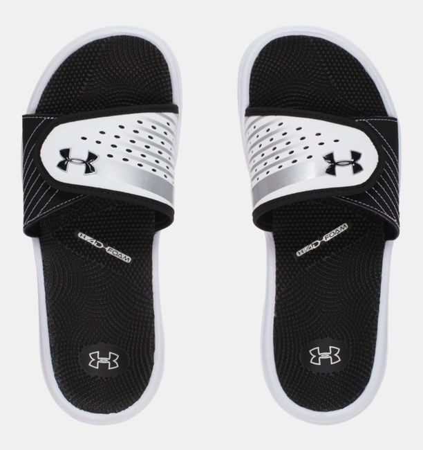 Shop Under Armour for Women's UA Micro G® EV II Slides in our Womens Sandals