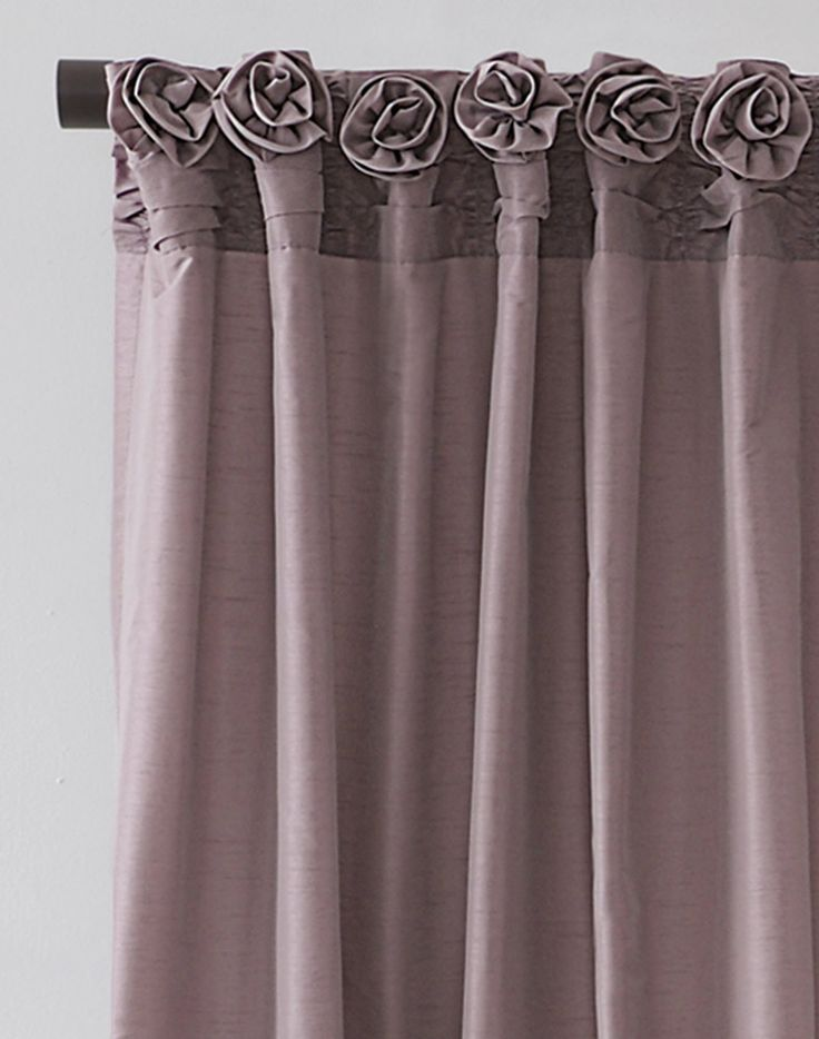 Rosettes On Drapes Dkny Rosette Window Curtain Panel