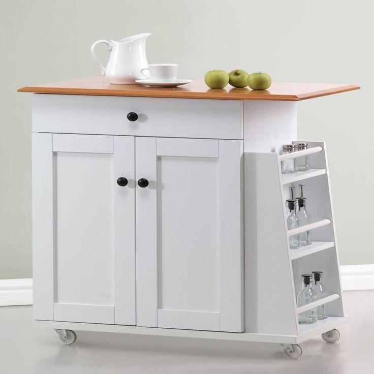 Premier White Kitchen Island Cart 199 00