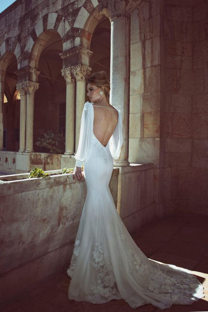 Lace Mermaid Wedding Dress with Tattoos