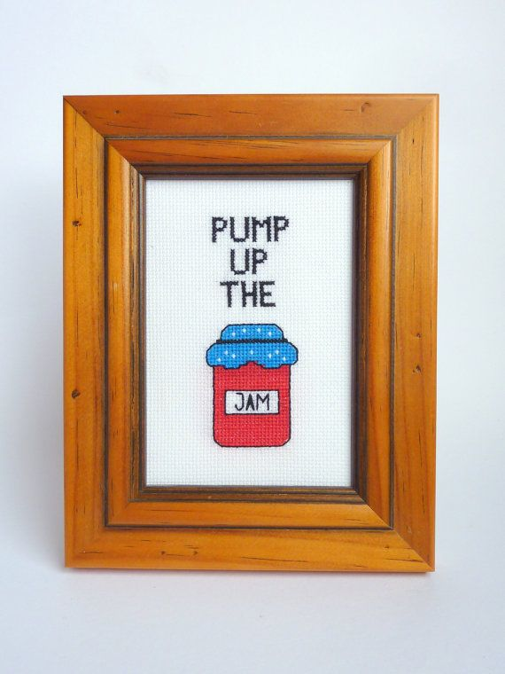 Cross Stitch Pattern Pump Up The Jam Cross Stitch by Quirkorium