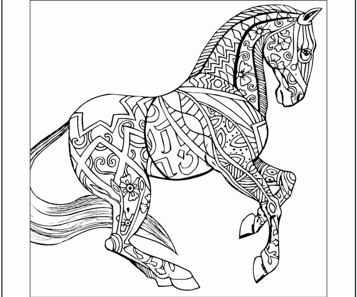 Carousel Horse Coloring Page Unique Coloring Picture Of A ...