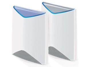 Netgear WLAN System Orbi Pro SRK60, Anwendungsbereich: Small/Medium Business, Home, RJ-45 Anschlüsse: 4 ×, RJ-45 Geschwindigkeit: 10/100/1000 Mbit/s, WAN Anschlüsse: 1 ×, WLAN Standard: 802.11ac, WLAN Frequenzband: 2.4 GHz, 5 GHz, WLAN Geschwindigkeit Max.: 3000 Mbit/s