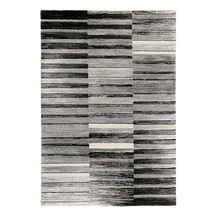 Teppich Wild Stripes - Kunstfaser - Grau / Beige - 200 x 290 cm, Esprit