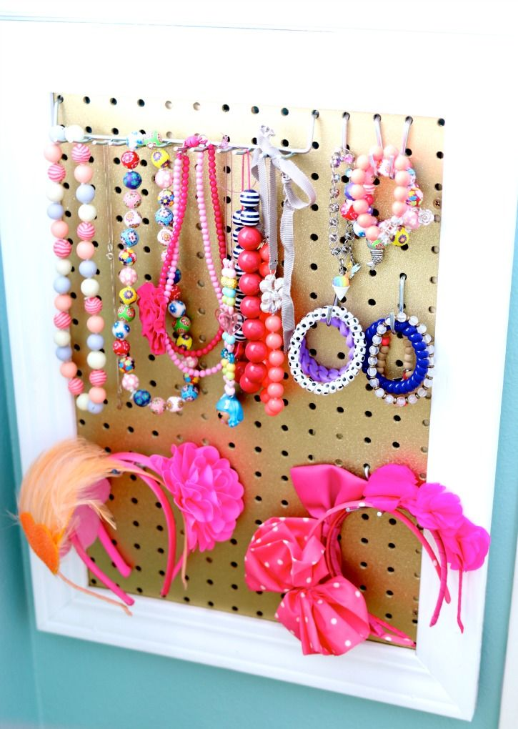 Home made Girls Jewelry Board perfect gift for the holidays