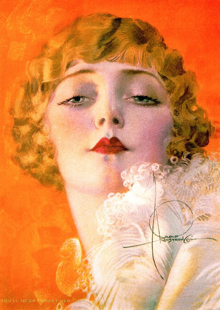 'YOU'LL NEVER FORGET HER' It' calendar print by Rolf Armstrong, originally cover of College Humor, September 1926.  from PIN-UP DREAMS: The Glamour Art of Rolf Armstrong (2001) by Janet Sobson & Michael Wooldridge (please follow minkshmink on pinterest) #twenties #flapper #rolfarmstrong #jazzage #roaringtwenties #itgirl #twentiesfashion