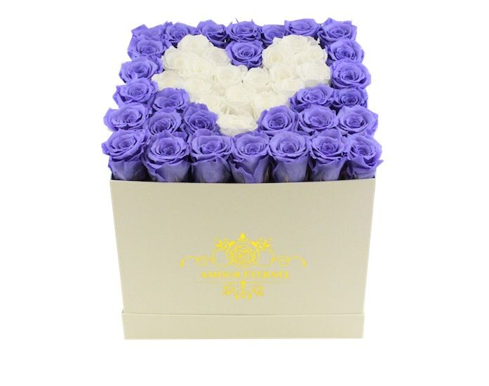 Tell them you love them with our hear shapped boxed eternity roses 💕