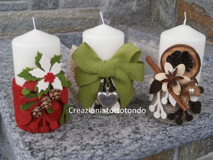 decorare candele bianche - Cerca con Google