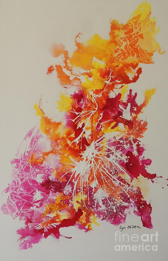 Pink And Yellow Coral Painting  http://lyn-olsen.artistwebsites.com/