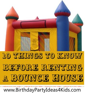 10 things to know before you rent a bounce house for your next birthday party great advice on. Black Bedroom Furniture Sets. Home Design Ideas