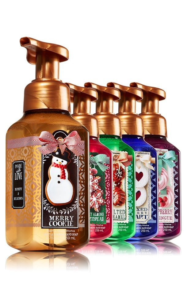 I'm quite excited about the new delicious Bath & Body Works Made With Love Hand Soaps for Holiday 2014! Berry Tart, Merry Cookie, Salted Caramel, Cherry Al