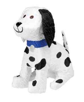 "This dalmation pinata is perfect for any party. 13"" x 7 1/2"" x 15 1/2"" This Pinata is the traditional style, so get out your Pinata bat and blindfold and get to the sweets (sold separately) Please Not"