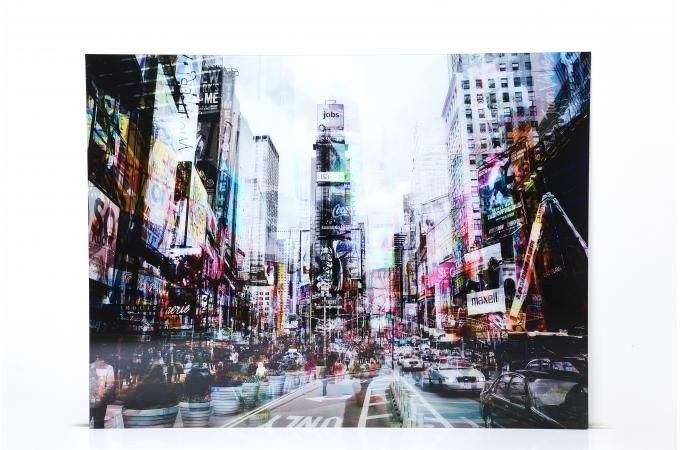 Glazen tafel Kare Ontwerp Times Square Move 70x90cm, deco KARE DESIGN