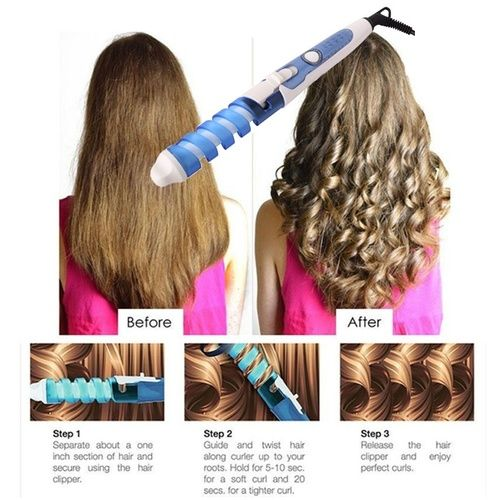Electric Curler Roller Spiral Curling Iron Wand Curl Style. Starting at $1