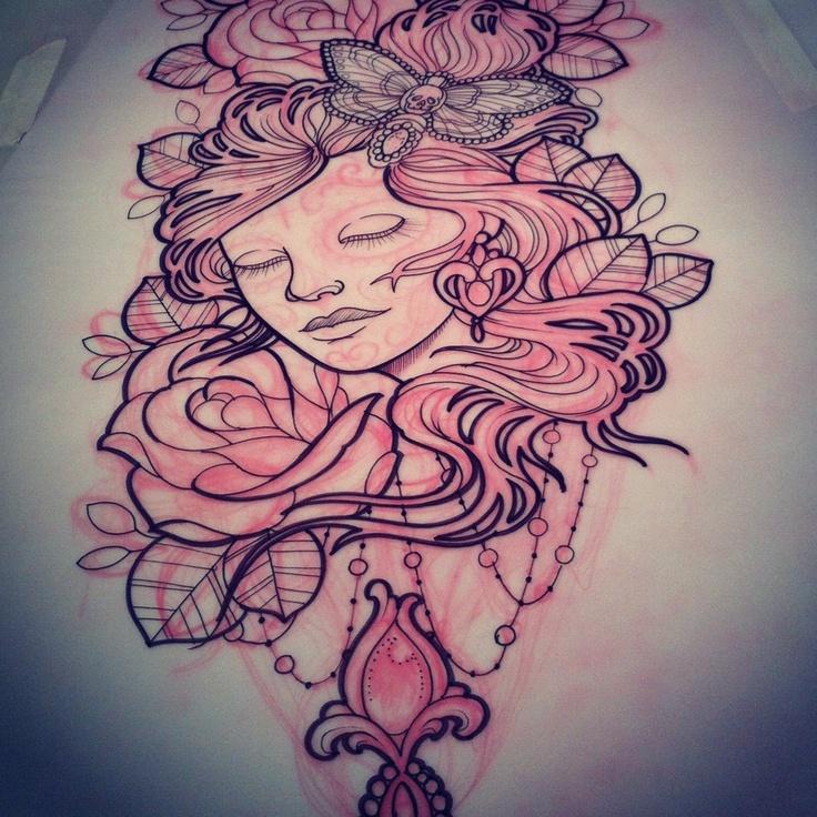 Girl & Roses