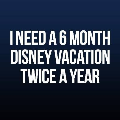 I need a 6 month Disney vacation, twice a year :) Book your Walt Disney World Vacation with a FREE Authorized Disney Travel Agent at www.MickeyTravels.com/Nikki