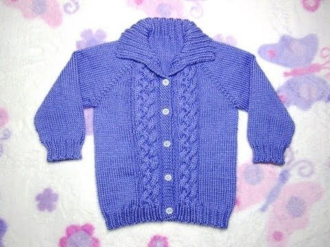 Free Knitting Pattern—Seamless Braided Cable Baby Sweater   FeltMagnet