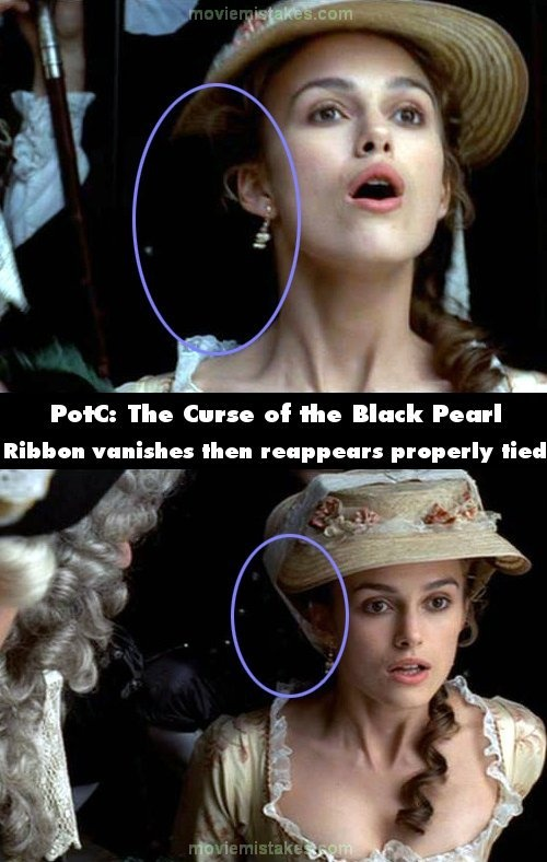 Pirates of the Caribbean: The Curse of the Black Pearl mistake picture
