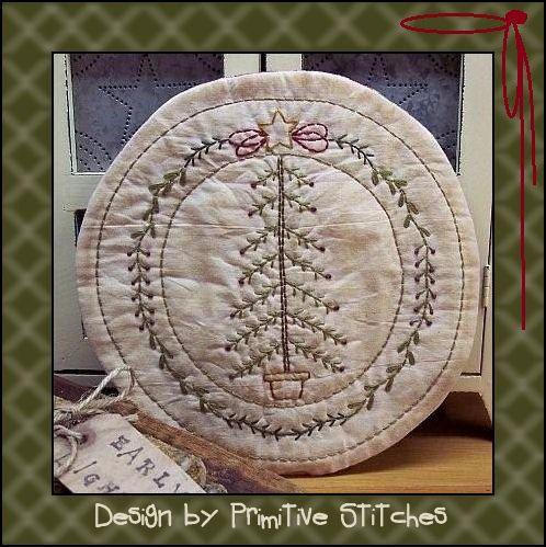 Primitive Stitchery EPatternMy Christmas Tree by PrimitiveStitches