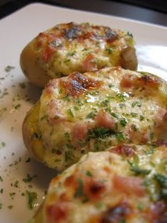 Gefüllte Kartoffeln (mit Kassler) Soooo YUMMY!!!