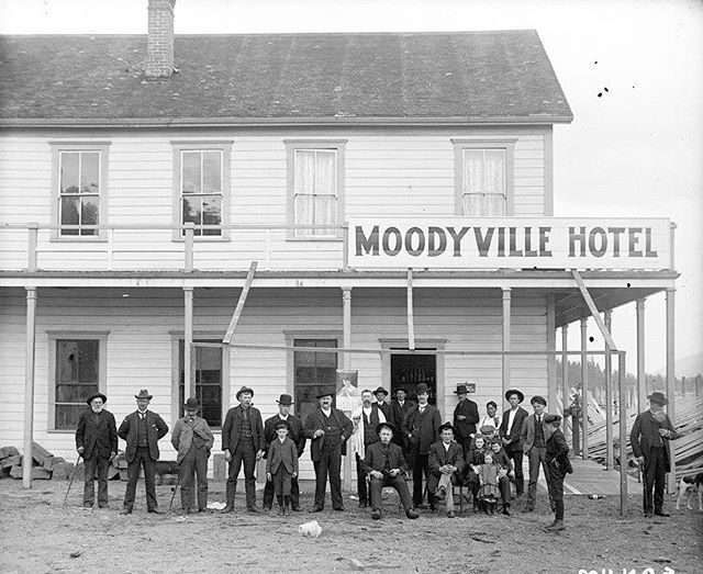 Before it became North Vancouver, it was known as Moodyville, the second oldest settlement in the Lower Mainland. This picture in front of the Moodyville Hotel dates back to 1898. #TBT #throwback  PC: @vancouverthenandnow #localrealtors - posted by Wayne and Brittany Dick https://www.instagram.com/teamwaynedickremax - See more Real Estate photos from Local Realtors at https://LocalRealtors.com