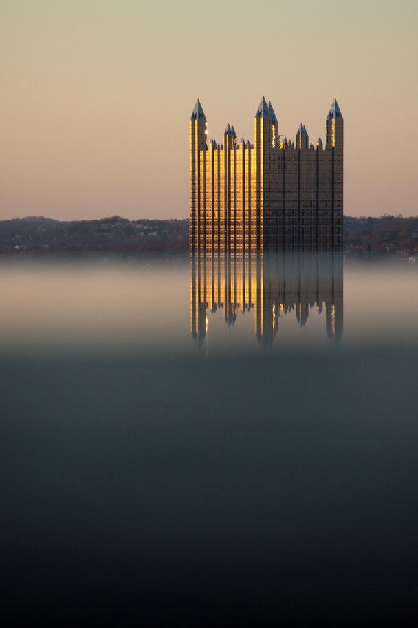 """""""Castle in the Sky"""" by Terri Shadle. Mt. Washington Grandview Park, Pittsburgh, PA. I.E. PPG Building."""