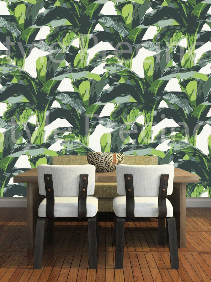 Large leaf Tropical Banana leaf wallpaper design by Style Precinct. This design is custom printed for your wall through www.wallpaperbrokers.com.au