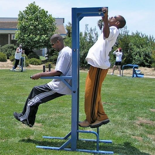 Pump Those arm muscles with the TriActive America E-Line Pull Up & Dip Station (www.noahsplay.com) . It's PERFECT for any high school and rec centers. Keep our teens active! Encourage playing sports and exercise! #exercise #fitness #fightobesity #teens