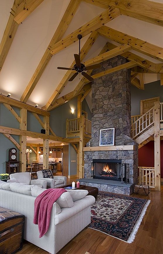 50 Best Inspiring Timber Frame Interiors Images On