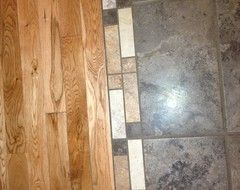 how to connect hardwood floor and tile