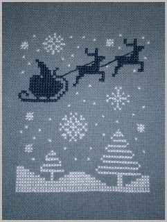 Simple Santa Cross Stitch Pattern