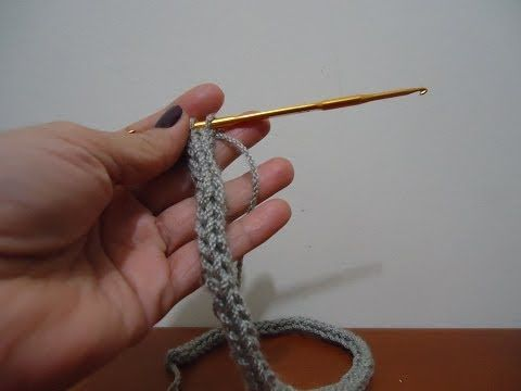 Cordón redondo en crochet - YouTube