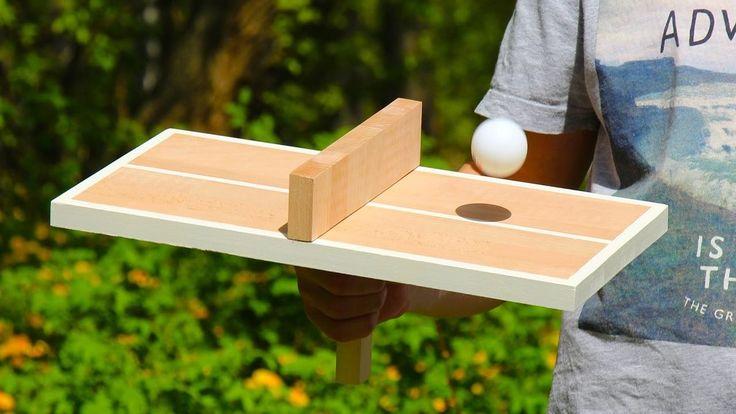 Eine Tischtennisplatte für Einzelspieler