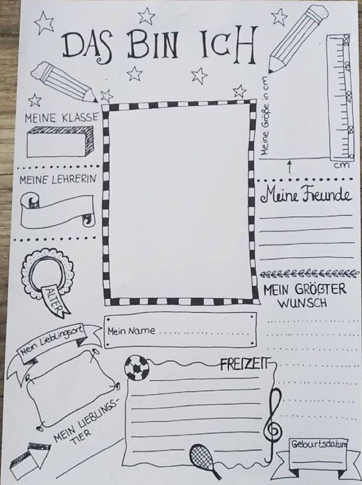 pin von anne auf basteln pinterest das bin ich schule und deutsch. Black Bedroom Furniture Sets. Home Design Ideas