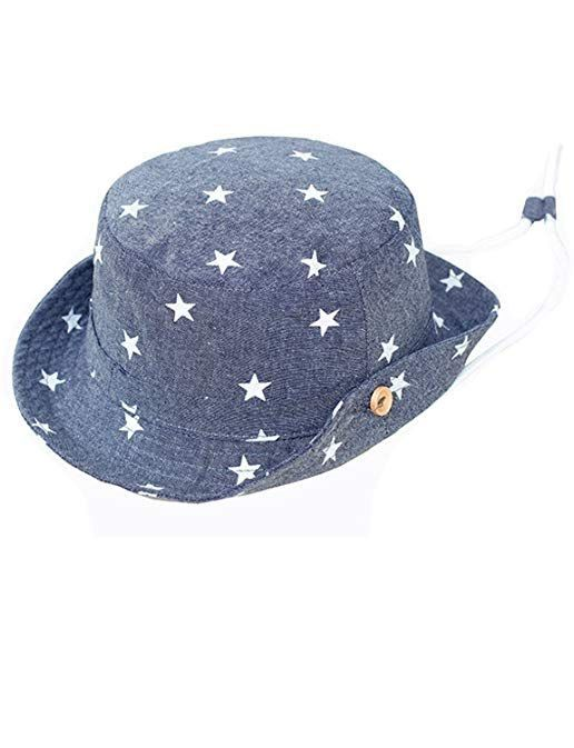 Toddler Boy Girls Cotton Hats Baby Sun hats Star Bucket Hat(3 Month- 8T)  Review  babysunhats 145f26954359