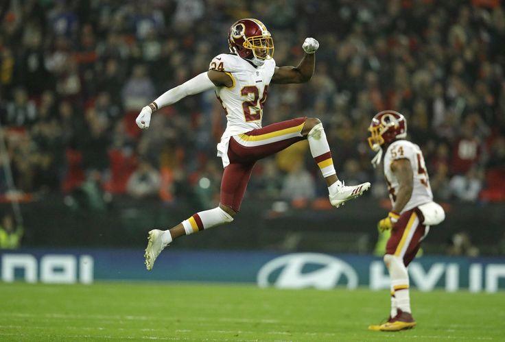 Redskins CB Josh Norman getting a leg up in Week 8. (AP/Dunham)