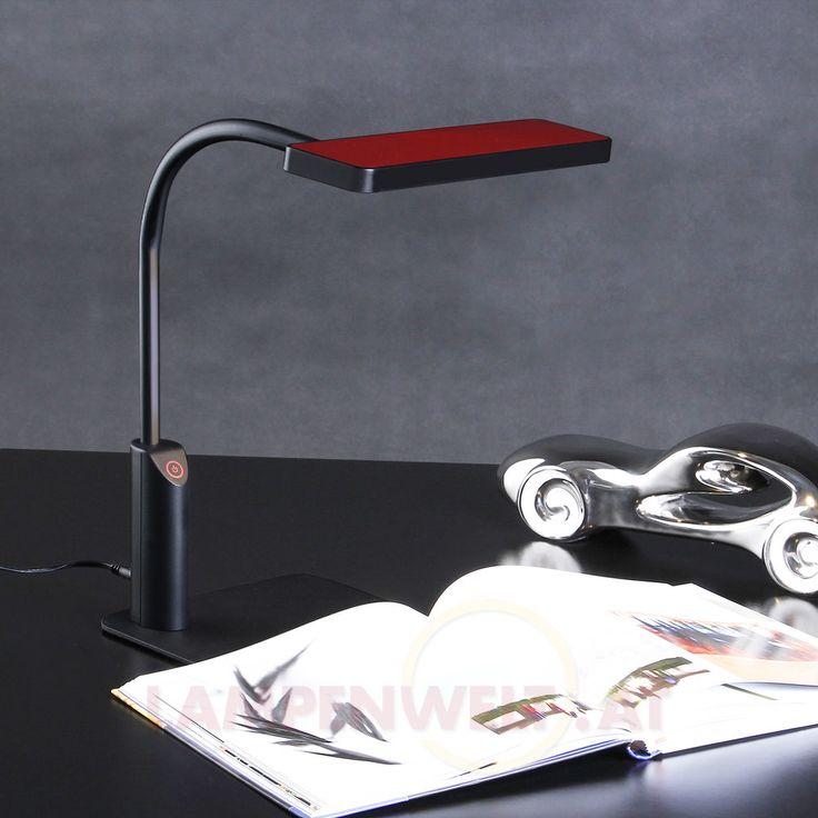 Fabulous Stufenlos dimmbar mittels Touchfunktion attraktives Design mit rotem Detail verstellbarer Kopf