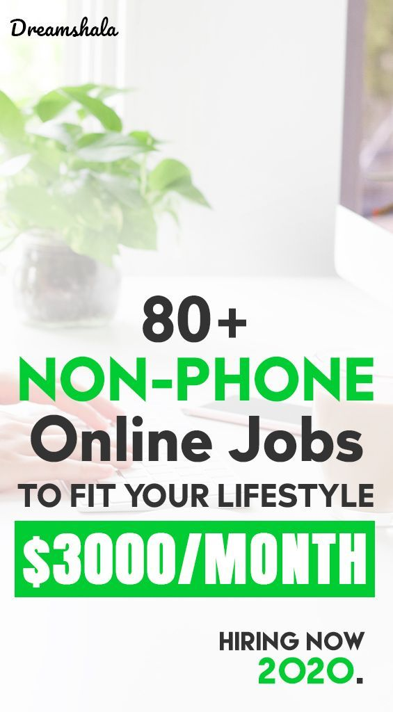 80 Companies Offering Non Phone Work From Home Jobs Hiring Now