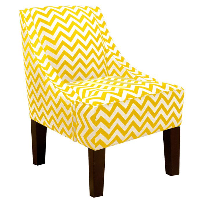 Estelle Accent Chair in Yellow for the home