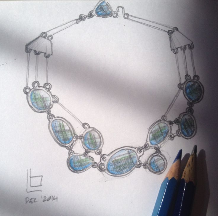 Baroque colour sapphire necklace  #sapphire #luwibonardesign #necklace #baroque #trend #intrend #style #instyle