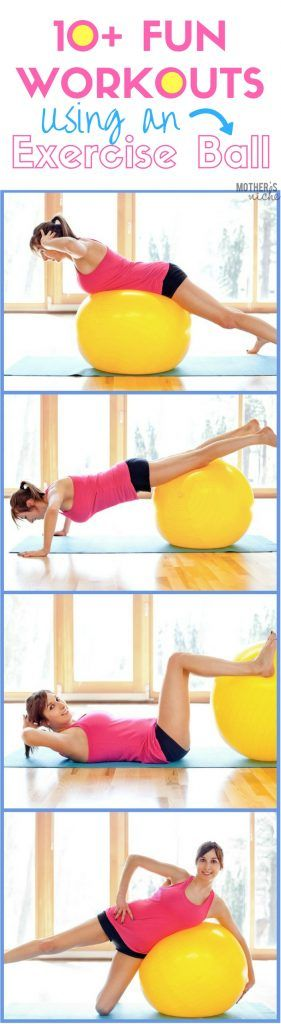 I love working out with an exercise ball (stability ball). It's so much more fun for me and mixes things up a bit