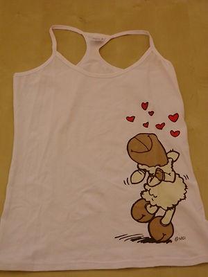 NEW Nici Sheep Lovely Shirt Pink Sz Size XL Women's women Girl Top White Nwt