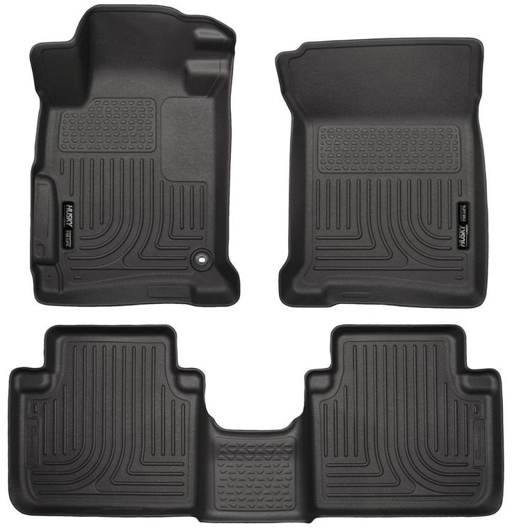 98481 HUSKY Liners WeatherBeater Black Front-2nd Seat Floor Liners Fitment 2013-2015 Honda Accord