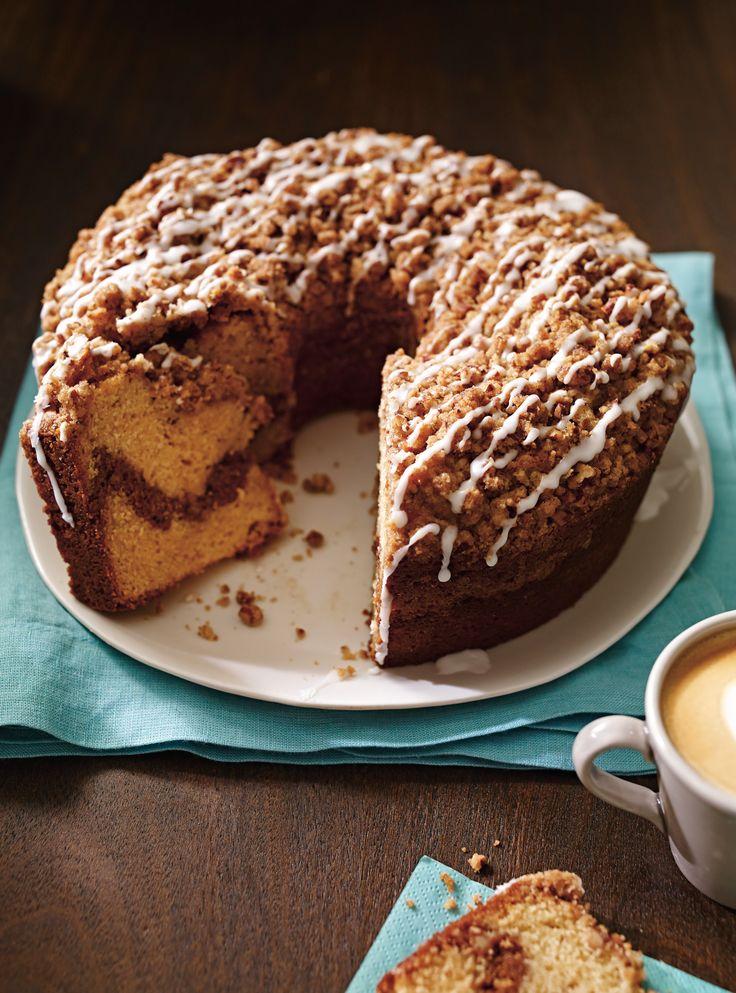 Gâteau à la cannelle et aux pacanes   #coffe #cake
