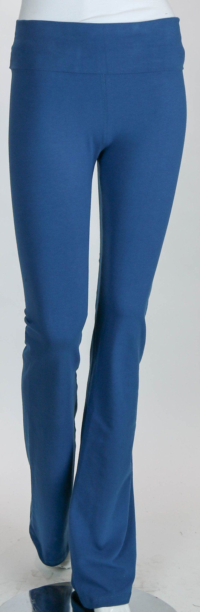 T-Party Fold Over Boot Cut Length Yoga Pants