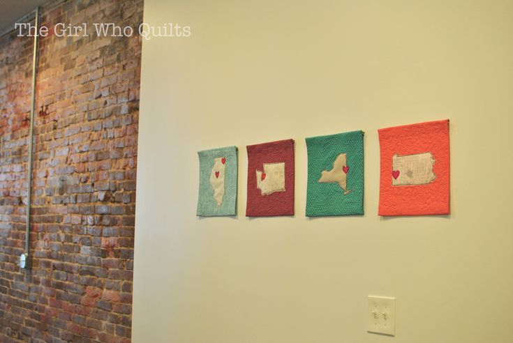Home is... mini quilts from: The Girl Who Quilts