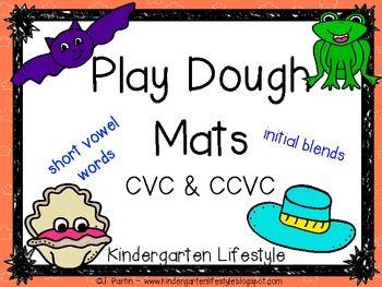 CVC & CCVC Play Dough Mats - practice making short vowels words