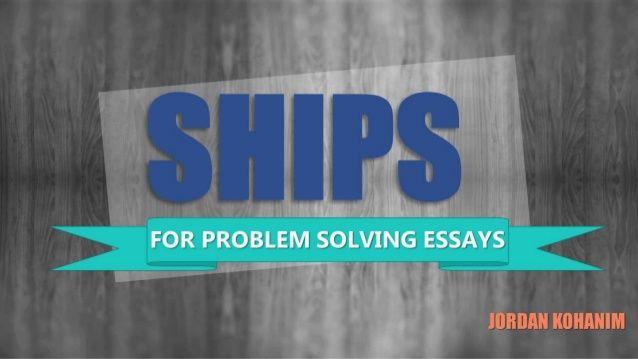 PROBLEM SOLUTION ESSAY WRITING