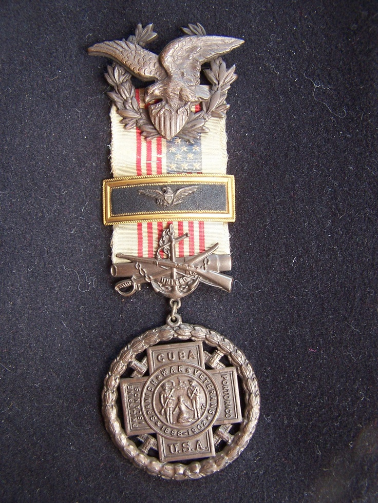 Spanish American War Officers Colonel Medal Badge